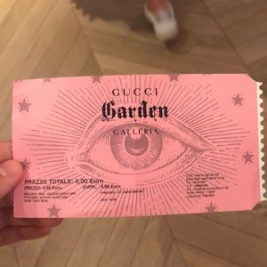 Gucci Garden Ticket (used)